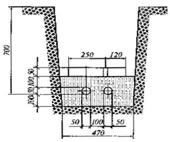 прокладка взаиморезервируемых кабелей в траншее до 10 кв